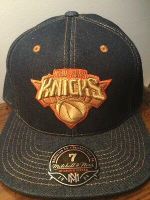 cheap for discount 2d4b5 940c1 Mitchell And Ness New York Knicks The Denim Fitted Hat. Brand New. Adult  Size