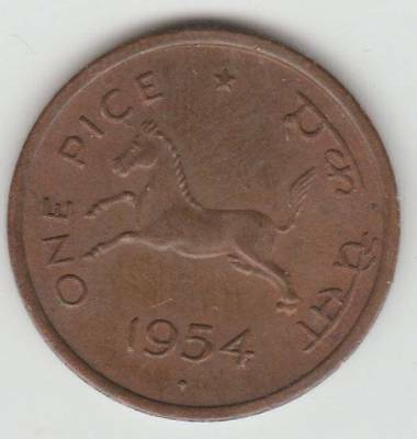 1 Pice 1954 Covernment Of India