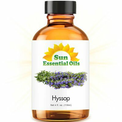 Best Hyssop Essential Oil 100% Purely Natural Therapeutic Grade 4oz