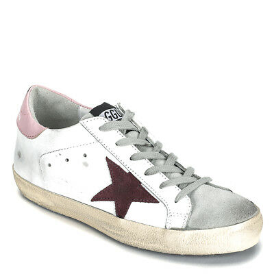 994f25f58 Golden Goose Women's Superstar Sneakers G32WS590.E75 White/Pink/Bordeaux 39