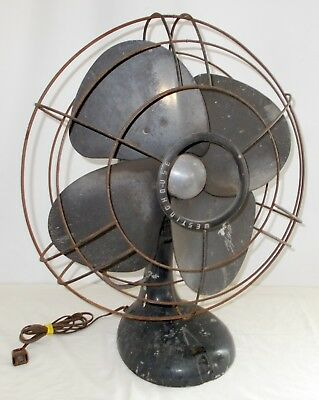 Vintage WESTINGHOUSE Art Deco Electric 3 Speed Fan