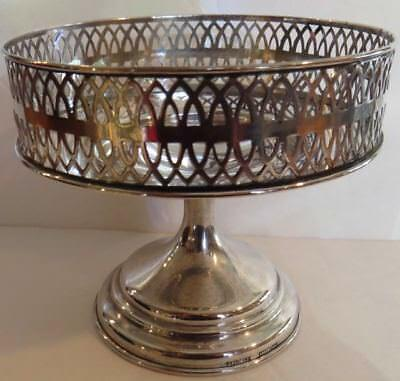 SALE PRICED AT $299 CDN! Antique English sterling silver footed dish