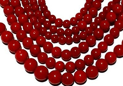 49g! Blood RED no dye natural coral beads Vintage for Necklace bracelet
