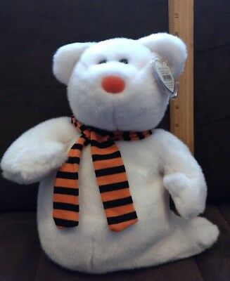 Ty Beanie Buddies - Quivers the Ghost Bear (9.5 in)