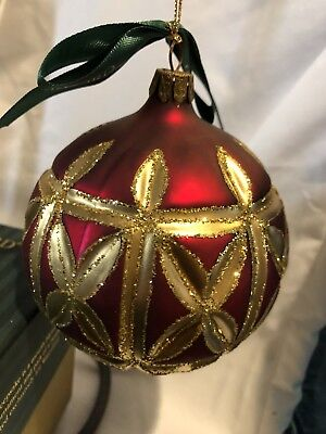 Waterford Christmas Ornaments.Waterford Holiday Heirlooms Kylemore Royalty Ball Glass Christmas Ornament 4
