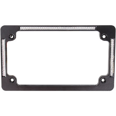 Custom Dynamics Black Flat Run Brake Turn License Plate Frame w/ LED's Harley