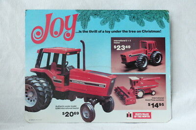 """IH International Harvester """"Parts On The Month""""  Toy Advertisement  2 Sided"""