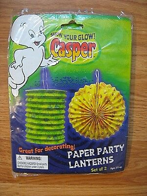 CASPER the Friendly Ghost Paper Party Lanterns Set of 3 Party Decorations 2007