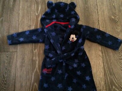 Disney Baby Boys Mickey Mouse Dressing Gown Age 12-18 Months