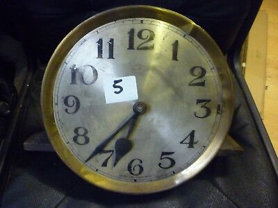 Original 1930s Longcase Grandfather Clock Weight Driven Chimeing Movement+Dial(5