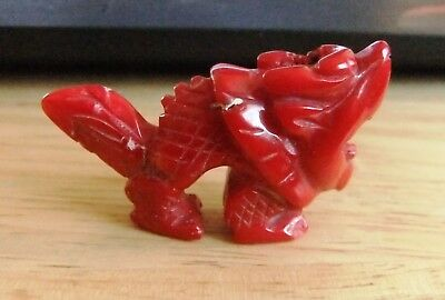 Chinese carved Dog of Fo in what appears to be a type of sea plant