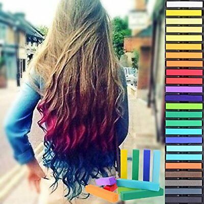 36 Colors Temporary Hair Chalk Non-Toxic Rainbow Colored Dye Pastel Kit Styling