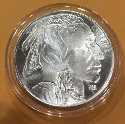 1 oz .999 Silver Round - Buffalo in AirTite with HM Marking