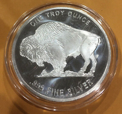 1 oz .999 Silver Round - Buffalo in AirTite