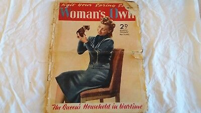 Vintage Woman's Own Magazine 1940 Home Front Upcycle
