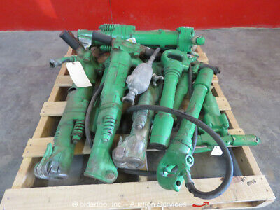 Lot of (9) Misc APT Pneumatic Demolition Breaker Air Jack Demo Hammer bidadoo