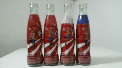 Set of 4 Coca Cola Bottles Paraguay National Soccer Team 2008 RARE! NR!