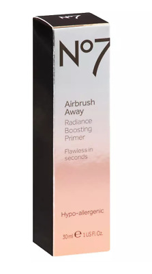 Boots No7 Airbrush Away Radiance Boosting Primer ‑ 1oz, Clear NEW