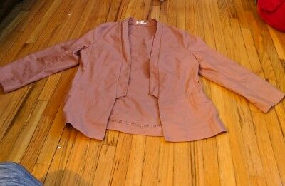 dusty rose blazer, maurices, sz S