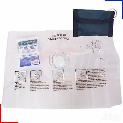 Qualicare Mouth to Mouth CPR Resuscitation Aid Face Shield in Pouch QR0201P