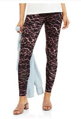 1ddcc0fdad03a Faded Glory Womens Leggings SMALL Abstract Cheetah Essential Cotton  Footless NWT