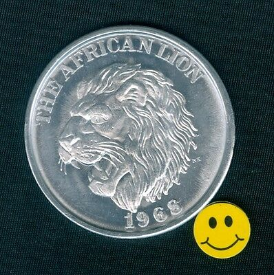 African Lion Collectible Zulu Mardi Gras Doubloon Token Coin 1968