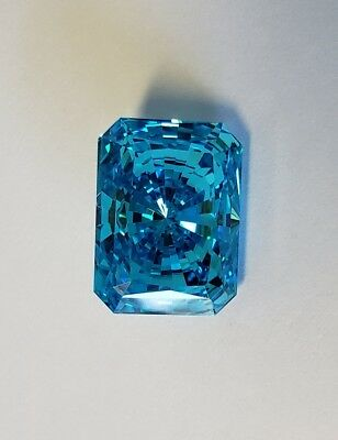 11 ct Radiant Cut Blue Extreme Fire Top CZ Imitation Moissanite Simulant 16 x 12