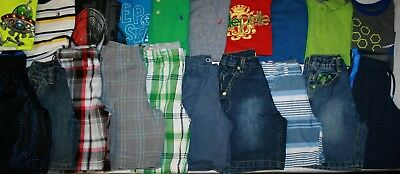 Boys Size 4 & 4T Spring/Summer Shorts & Shirts Clothing Lot Of 20 Pieces
