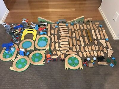 Thomas the Tank Engine Wooden Train Sets bulk lot With Cranky- No Trains -