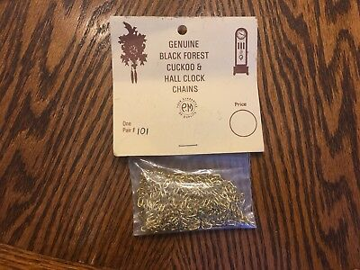 Back Forest Cuckoo & Hall Clock CHAINS  One Pair  New Old Stock