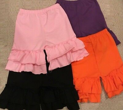 NEW Girls RUFFLE Shorts Red, Black, Purple, Orange