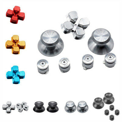 KD_ Replacement Metal ABXY Buttons Thumbstick D-pad for Sony PS4 Controller Gr