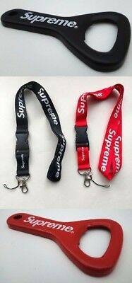 Supreme Lanyard Keychain Bottle Opener ID Holder Hanger Box Logo Key Chain 14SSn