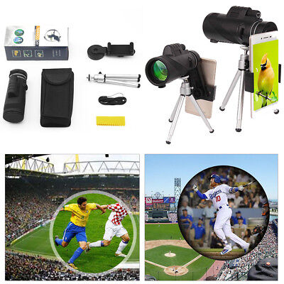 Monocular 40X60 Zoom Optical Lens Camera Telescope +Tripod Clamp For Cell Phone