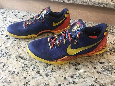 4f5b5b956b96 Mens Nike Kobe 8 System Pp Barcelona Basketball Shoes Size 12 Blue 555035  402