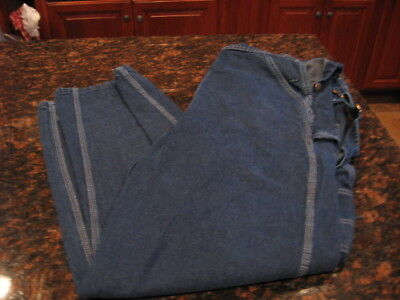 Key Imperial Mens Indigo Denim Bib Overall High Back W/ Button Fly 38x32 Unlined