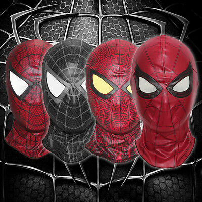 Spiderman face The Amazing Spider Man mask Balaclava Hood Cosplay venom