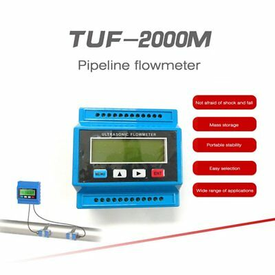TUF-2000M TM-1 Digital Ultrasonic Flowmeter Flow Heat Meter Ultrasinic Module MU