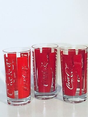 3 Coca Cola Glasses 1982 Coke Is It