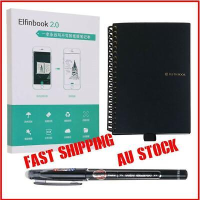 Elfinbook Smart Notebook 2.0 upgraded Pen Erasable Reusable IOS Cloud Au Stock