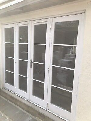 exterior external wooden double glazed french doors with side