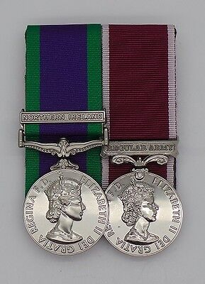 Full Size Court Mounted Medals GSM & Northern Ireland Clasp with Army LS & GC