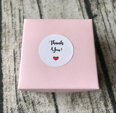 48x 3cm White Round Thank You Labels Stickers Wedding Party Favour Stickers