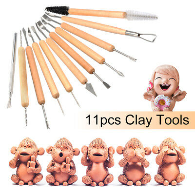 11pcs Professional Polymer Clay Sculpting Tool Pottery Models Art Projects TH793