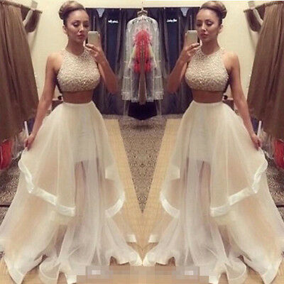 AU Long Maxi Women Bridesmaid Dress Formal Evening Party Cocktail Ball Prom Gown