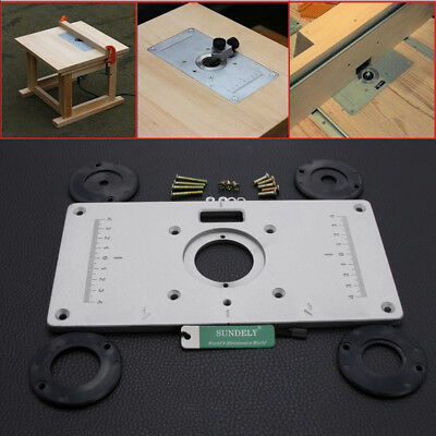 235 x 120 x 8mm woodworking aluminum router table insert plate with hot 235 x 120 x 8mm aluminum router table insert plate with ring for woodworking keyboard keysfo Images