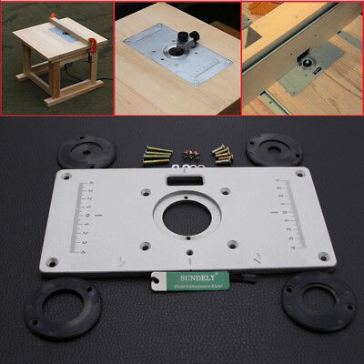 Hot 235x120 x8mm aluminum router table insert plate insert ring 235x120x8mm aluminium alloy plunge router table insert plate ring woodworking uk keyboard keysfo Image collections
