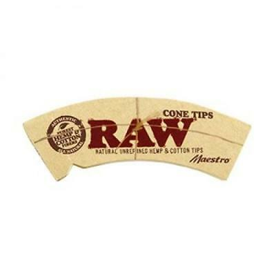 Raw Unrefined Natural Hemp & Cotton Maestro Cone Tips Full Box Of 24 Packs Of 32