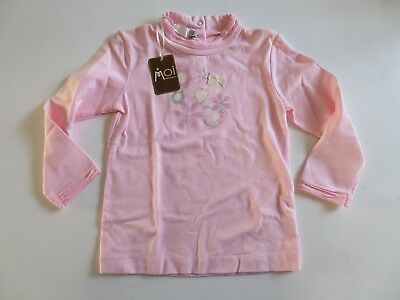 Bebe Clayeux...adorable T.shirt Manches Longues Strass Et Noeud 2A Neuf!
