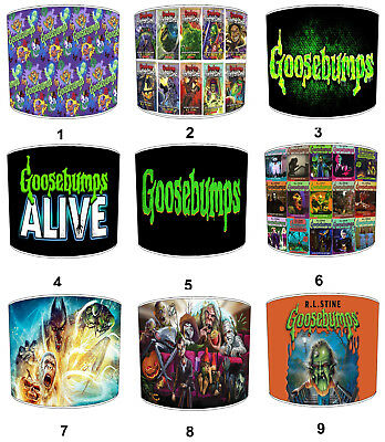 Goosebumps Lampshades, Ideal To Match Goosebumps Duvet Covers.